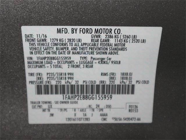 Pre-Owned 2016 Ford Taurus 4dr Sdn SEL FWD